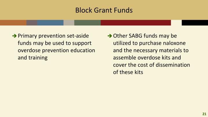Block Grant Funds