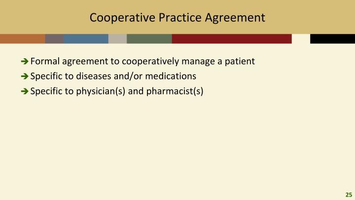 Cooperative Practice Agreement