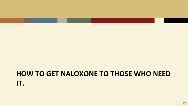 How to get naloxone to those who need it.