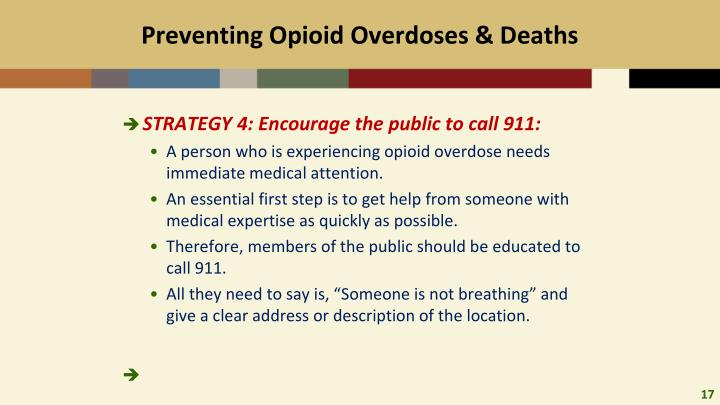 Preventing Opioid Overdoses & Deaths