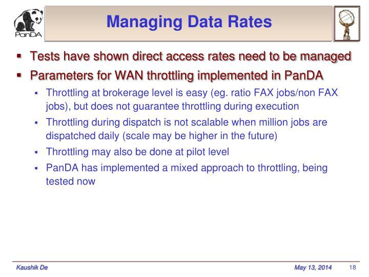 Managing Data Rates