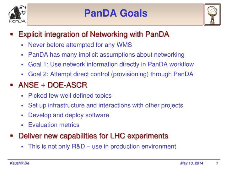 Panda goals