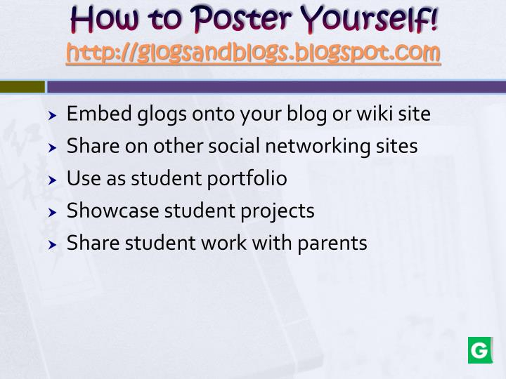 How to Poster Yourself!