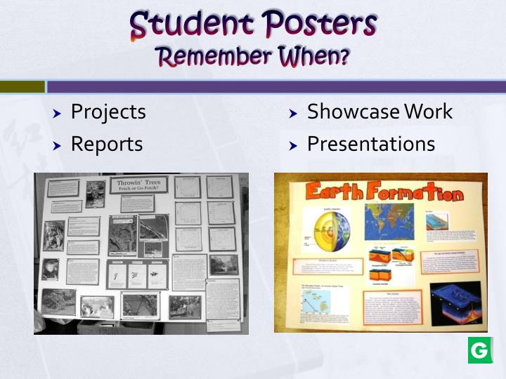 Student posters remember when