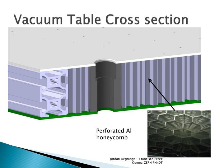 Vacuum Table Cross section
