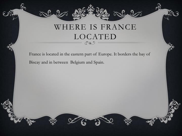 PPT Christmas In France PowerPoint Presentation ID - Where is france located