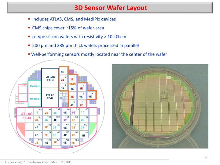 3D Sensor Wafer Layout