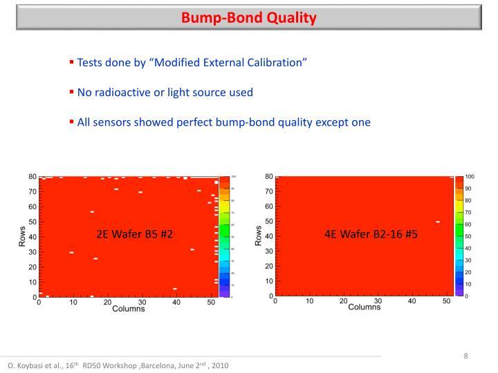 Bump-Bond Quality
