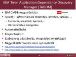 ibm tivoli application dependency discovery manager taddm