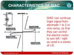 characteristics of diac