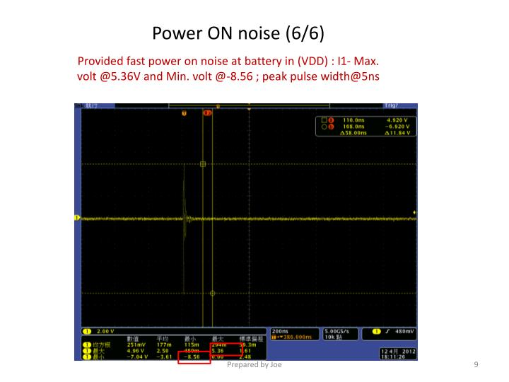 Power ON noise