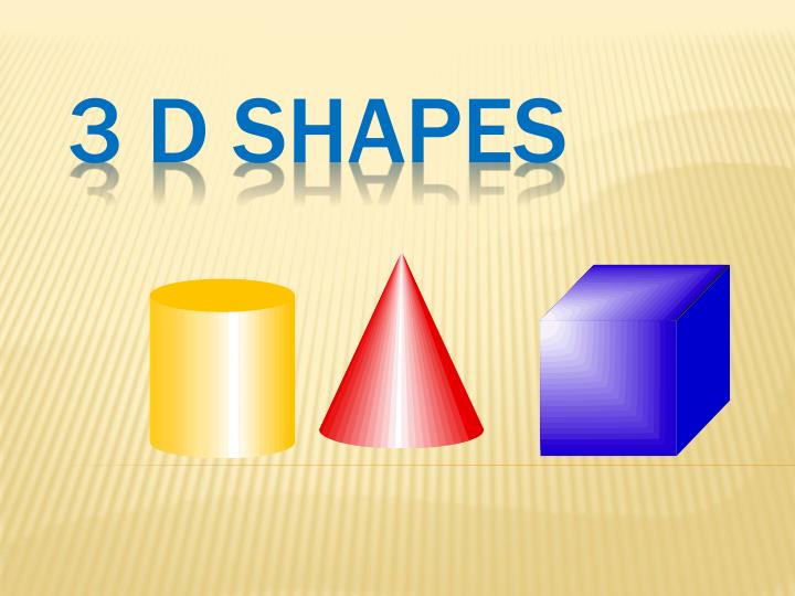 PPT - 3 D Shapes PowerPoint Presentation - ID:3231805