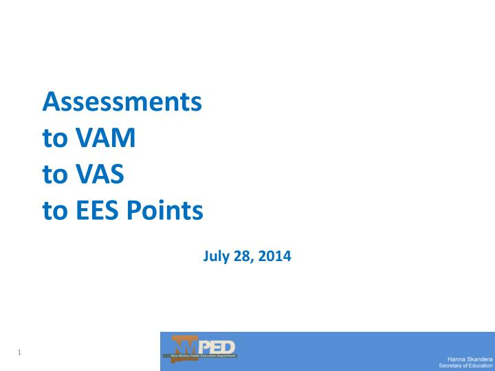 assessments to vam to vas to ees points n.