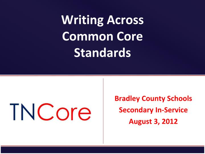 writing across common core standards n.