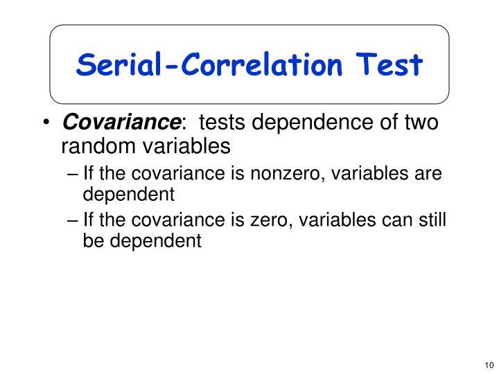 Serial-Correlation Test