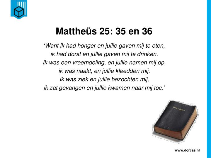 Matthe s 25 35 en 36