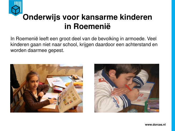 Onderwijs voor kansarme kinderen