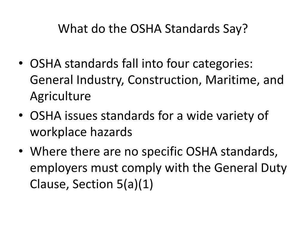 PPT - Intro to OSHA PowerPoint Presentation - ID:3232541