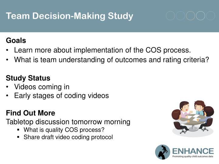 Team Decision-Making Study