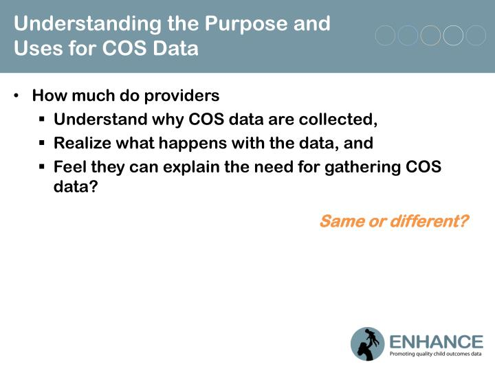 Understanding the Purpose and Uses for COS Data
