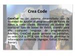 crea code