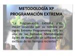 metodolog a xp programaci n extrema