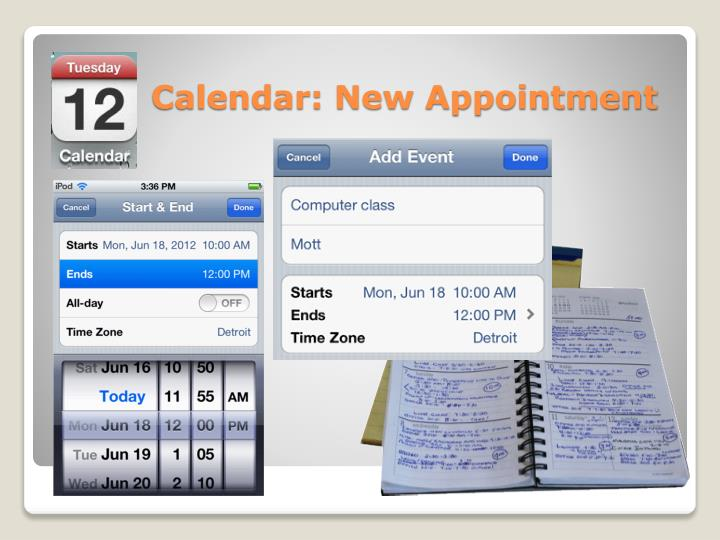 Calendar: New Appointment