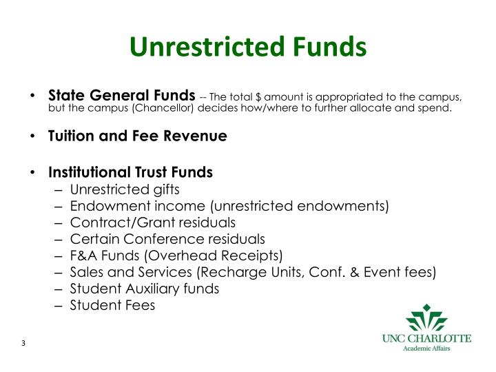 Unrestricted funds
