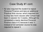 case study 1 cont