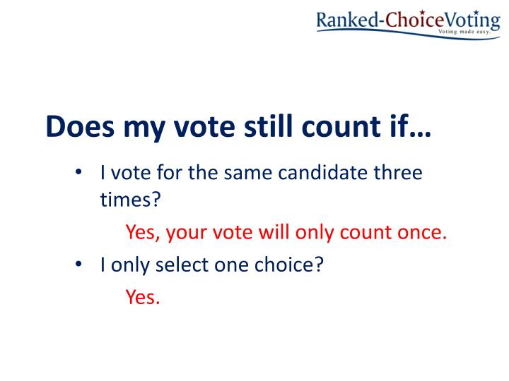 Does my vote still count if…