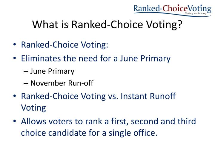 What is ranked choice v oting