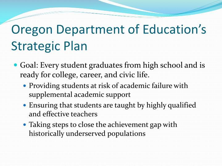 Oregon Department of Education's