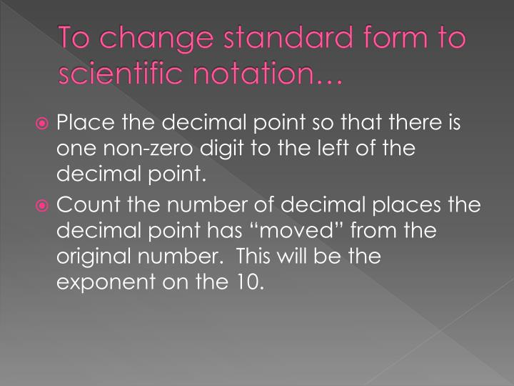 Ppt Scientific Notation Powerpoint Presentation Id3233885