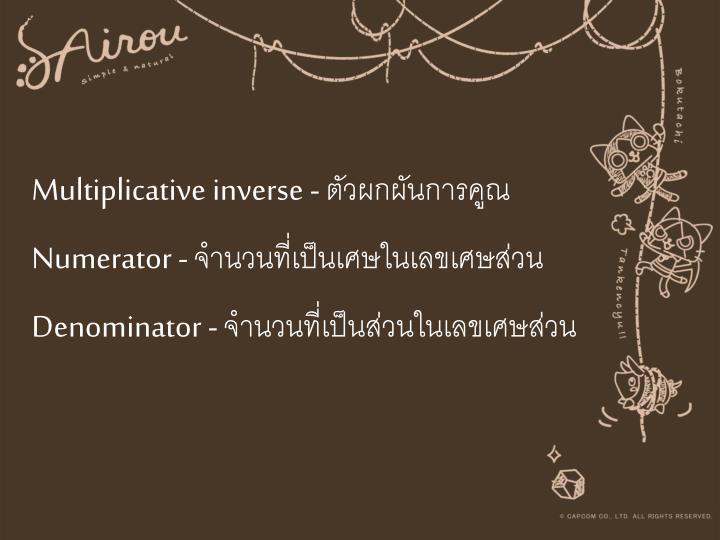 Multiplicative inverse -