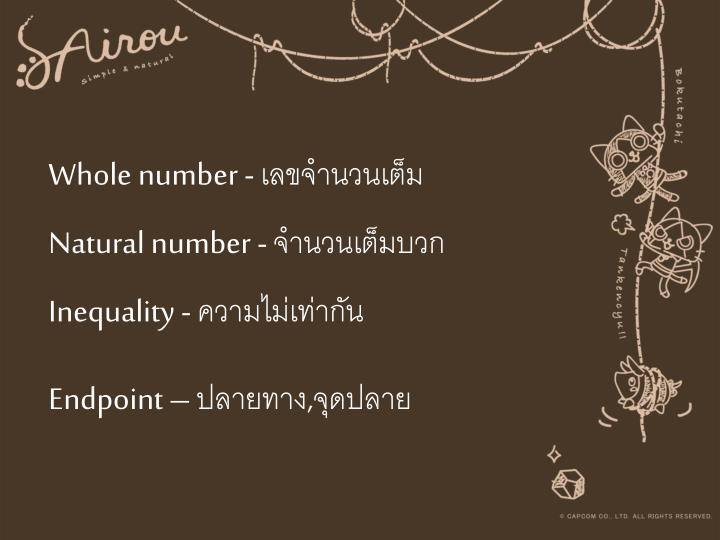 Whole number -