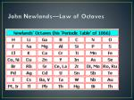 john newlands law of octaves