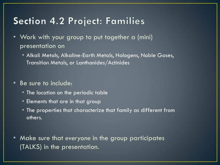 Ppt wednesday tour of the periodic table powerpoint presentation section 42 project families urtaz Gallery