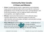 community data canada a vision and mission