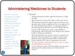 administering medicines to students