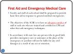 first aid and emergency medical care