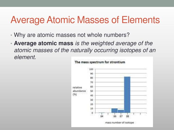 Ppt 33 counting atoms powerpoint presentation id3234212 average atomic masses of elements urtaz Images