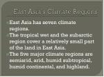 east asia s climate regions
