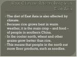 how climate affects people in east asia1