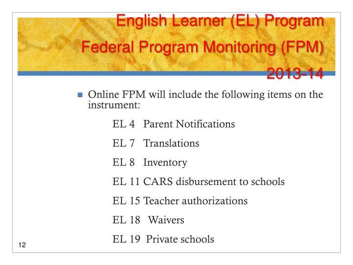 English Learner (EL) Program