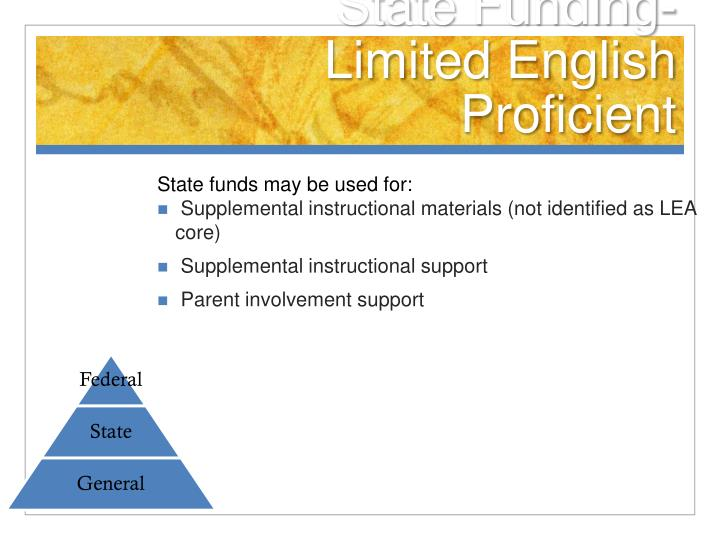 State Funding-Limited English Proficient