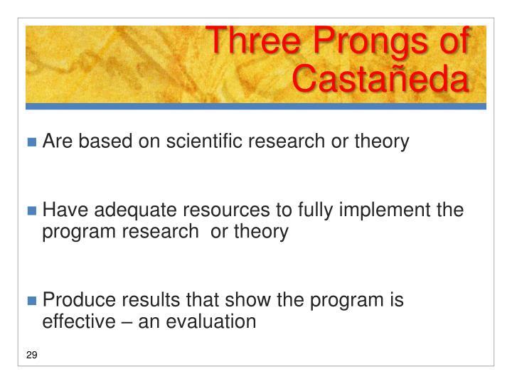 Three Prongs of