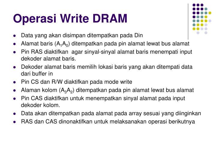 Operasi Write DRAM