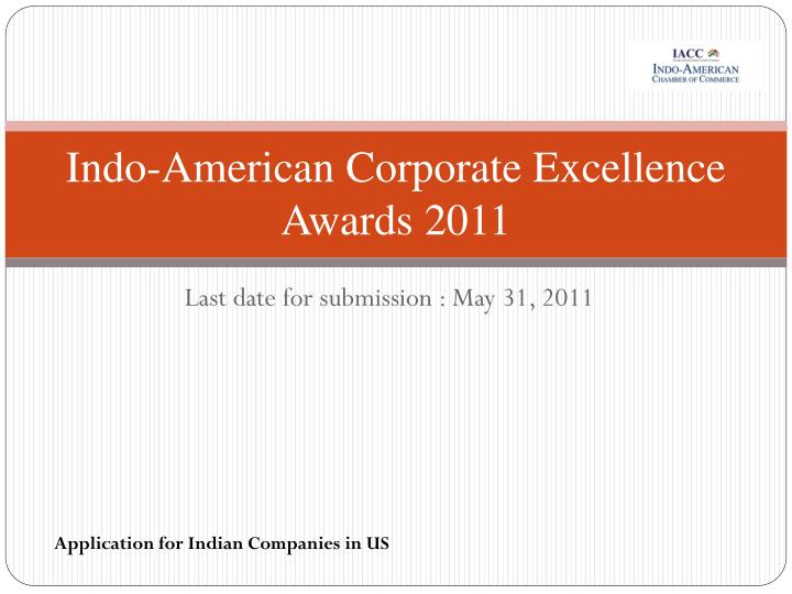 indo american corporate excellence awards 2011 n.