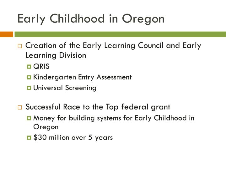 Early Childhood in Oregon