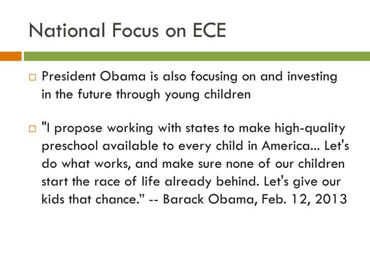 National Focus on ECE